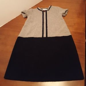Gucci Wool Toddler Dress Navy Blue & Heather Gray